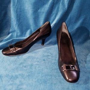 Ralph Lauren Black Leather Heels